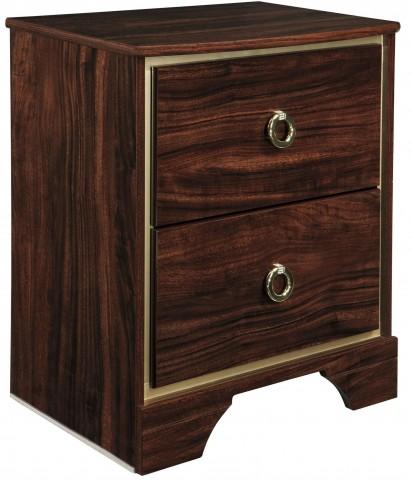 Lenmara Reddish Brown 2 Drawer Nightstand
