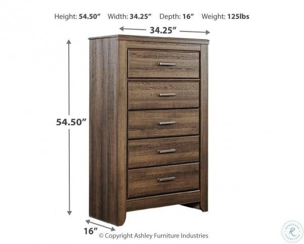 Juararo Dark Brown Panel Bedroom Set