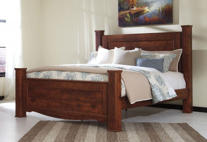 Brittberg Reddish Brown Queen Poster Bed