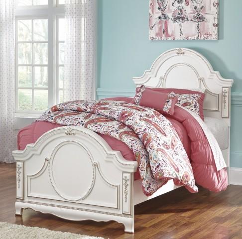 Korabella White Twin Panel Bed