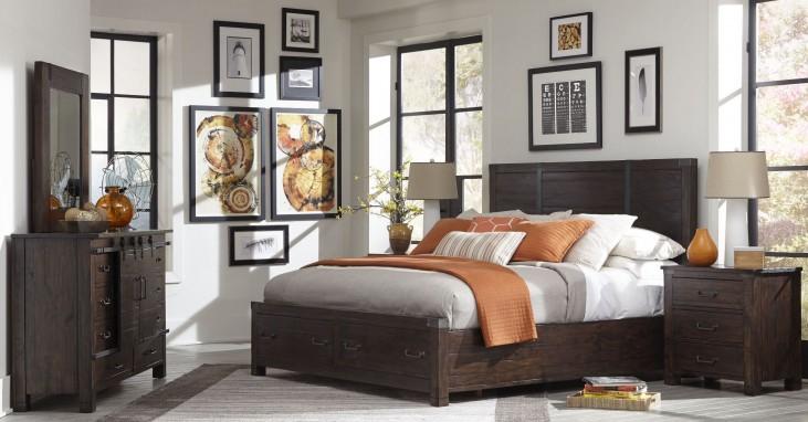 Pine Hill Rustic Pine Panel Bedroom Set