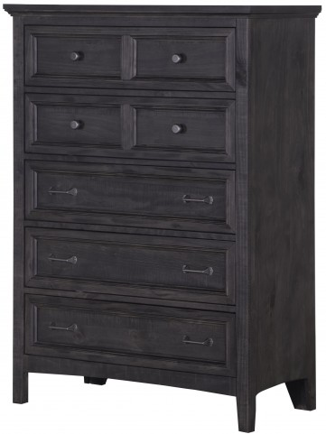 Mill River Weathered Charcoal Drawer Chest