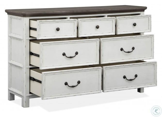 Bellevue Manor Weathered Shutter White Drawer Dresser