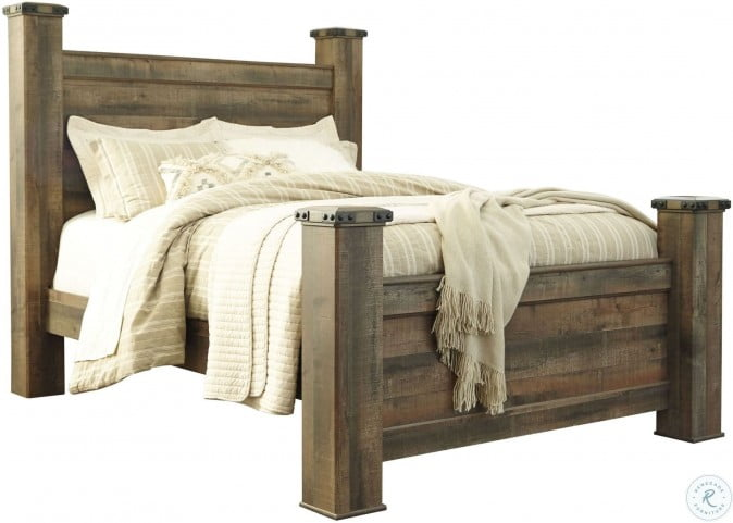 Trinell Brown King Poster Bed From Ashley B446 61 66 68 99 Coleman Furniture