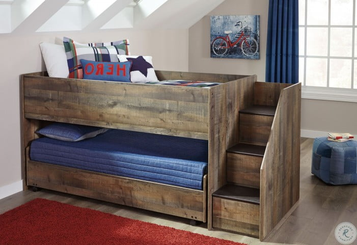 Trinell Brown Twin Loft Bed Pull Out Caster Bed From Ashley Coleman Furniture