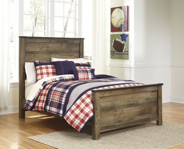 Trinell Brown Queen Panel Bed