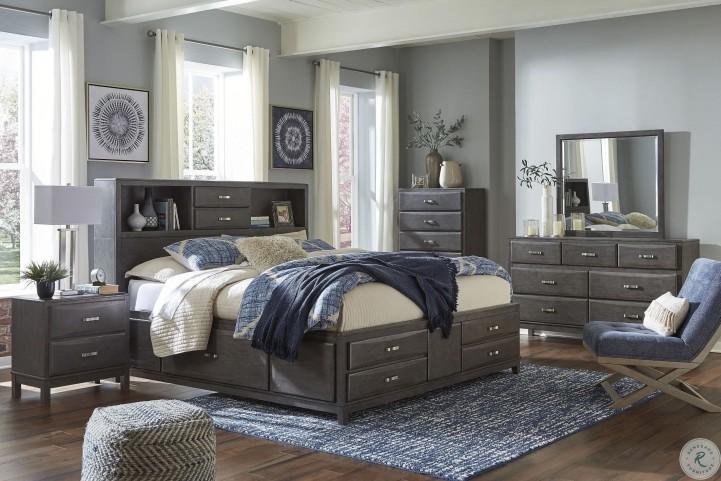 Caitbrook Gray Youth Bookcase Storage Bedroom Set