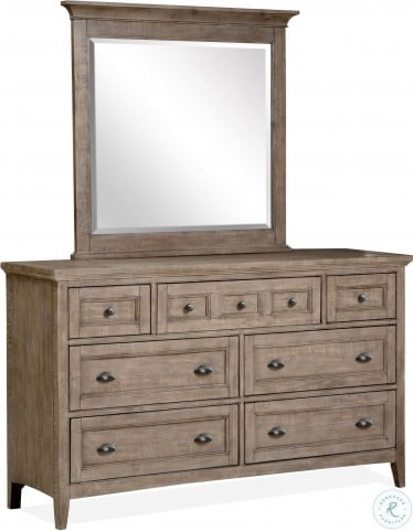 Paxton Place Dovetail Grey Dresser
