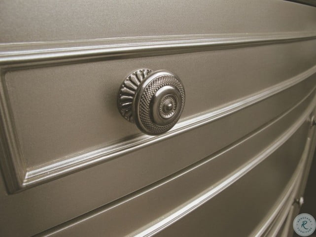 Regency Park Pearlized Silver Drawer Dresser