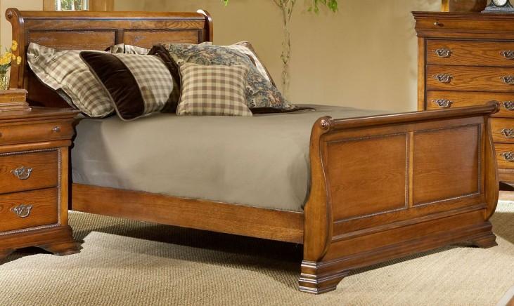 Shenandoah American Oak Twin Sleigh Bed