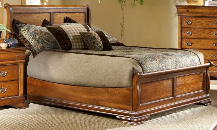Shenandoah American Oak Queen Panel Bed