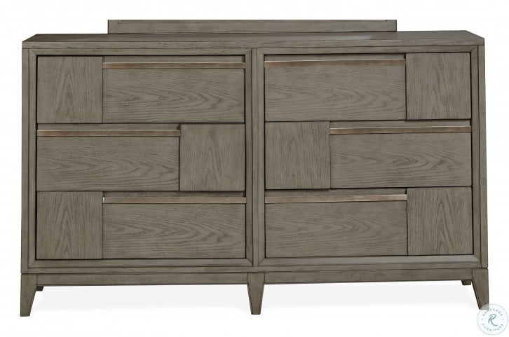 Atelier Nouveau Grey Double Drawer Dresser