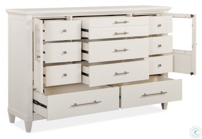 Lola Bay Seagull White Drawer Dresser