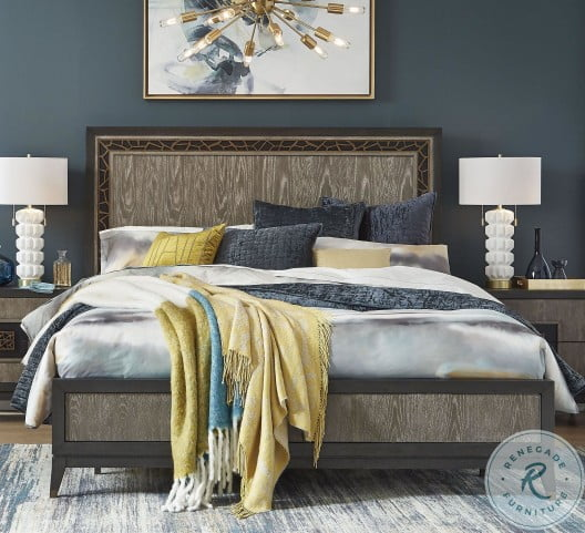 Ryker Nocturn Black And Coventry Grey Queen Panel Bed From Magnussen Home Coleman Furniture