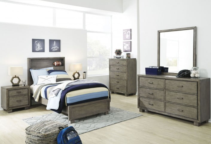 Arnett Gray Youth Panel Storage Bedroom Set