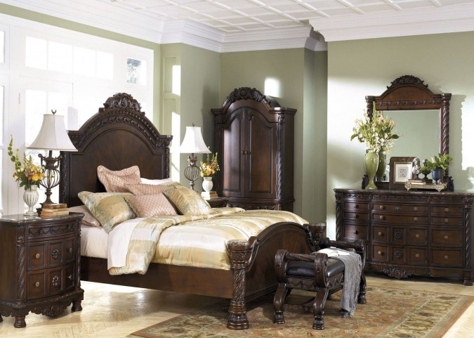 North shore panel bedroom set from ashley b553 coleman - King size bedroom sets for sale by owner ...