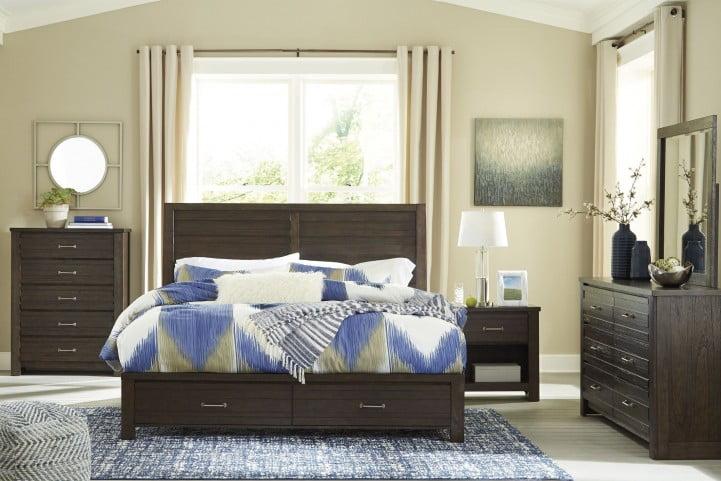 Darbry Brown Panel Storage Bedroom Set
