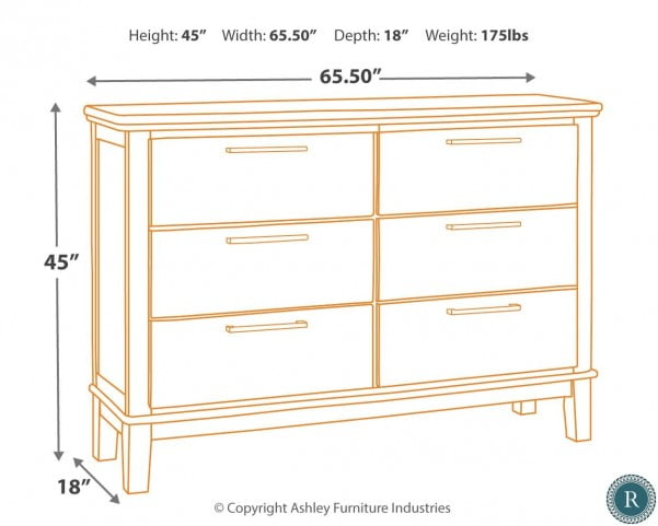 Ralene Medium Brown Dresser From Ashley Coleman Furniture