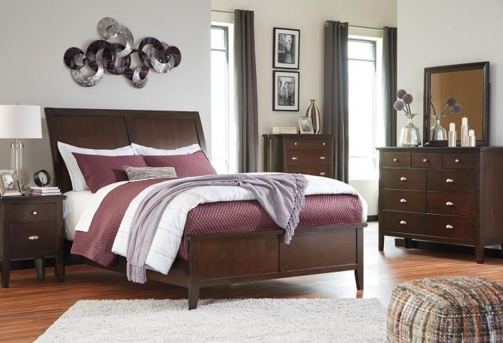 Evanburg Sleigh Bedroom Set