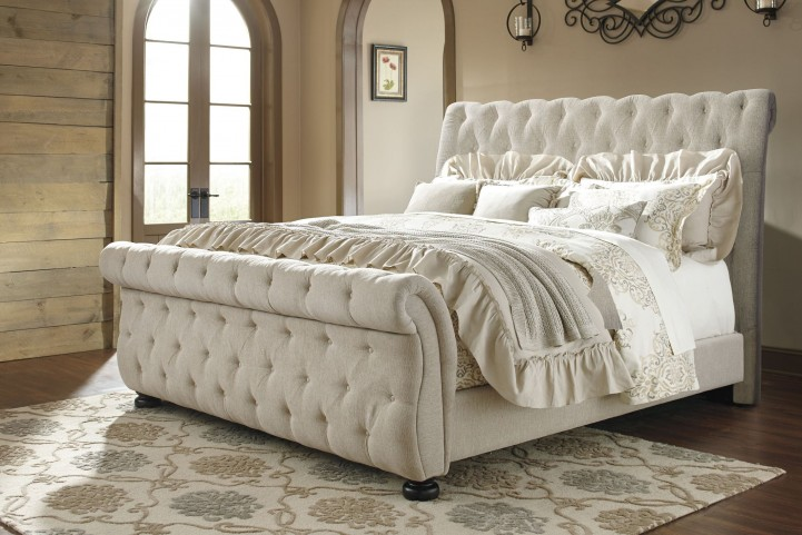 Willenburg Linen King Upholstered Sleigh Bed From Ashley Coleman Furniture