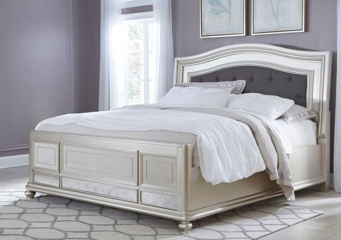 Coralayne Silver Cal. King Panel Bed