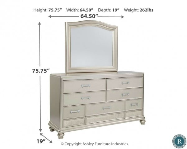 Coralayne Silver Bedroom Mirror From Ashley B650 136 Coleman Furniture