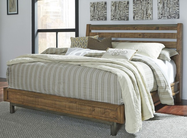 Dondie Warm Brown Queen Platform Bed