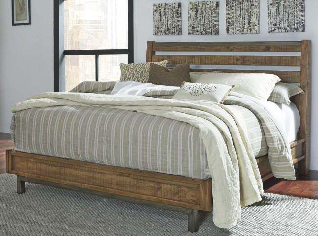 Dondie Warm Brown King Platform Bed