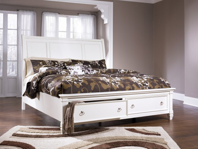 Prentice Cal. King Storage Sleigh Bed