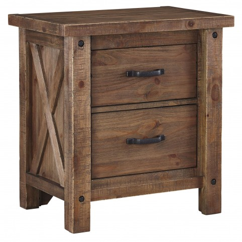 Tamilo Grayish Brown Two Drawer Nightstand