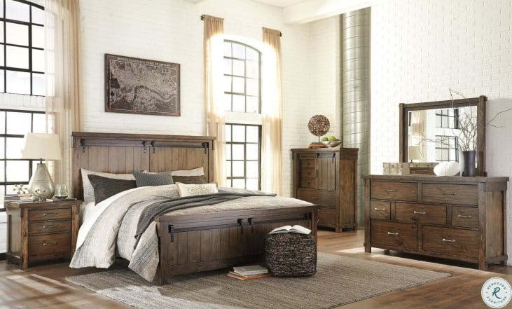 Lakeleigh Dark Brown Panel Bedroom Set from Ashley | Coleman Furniture
