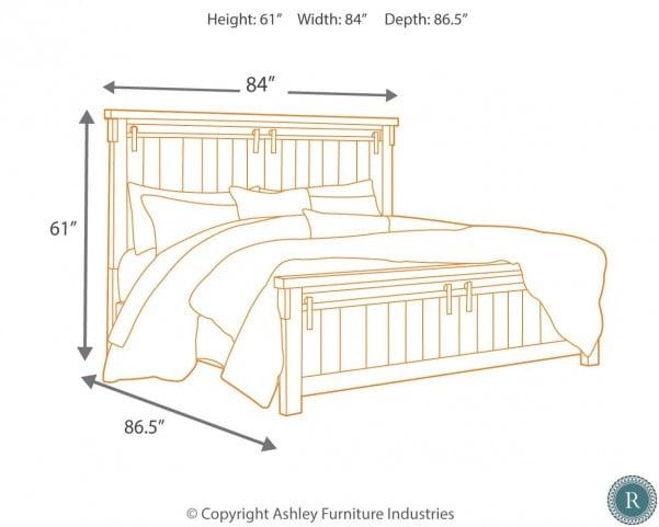 Lakeleigh Dark Brown King Panel Bed