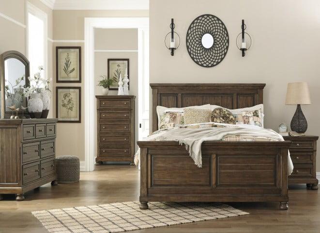 Flynnter Medium Brown Panel Bedroom Set From Ashley