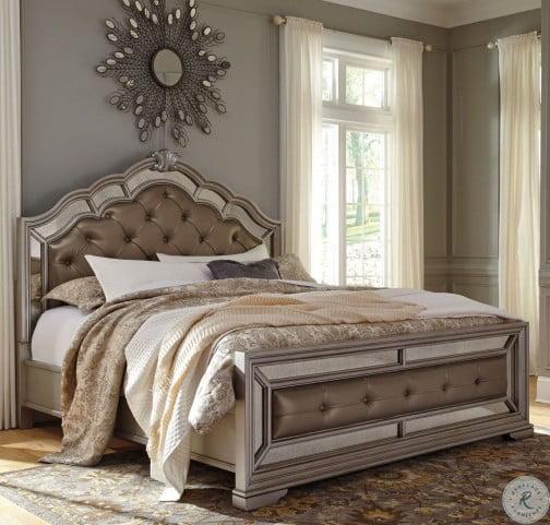 Birlanny Silver Upholstered Panel Bedroom Set B720 57 54: Birlanny Silver King Upholstered Panel Bed From Ashley
