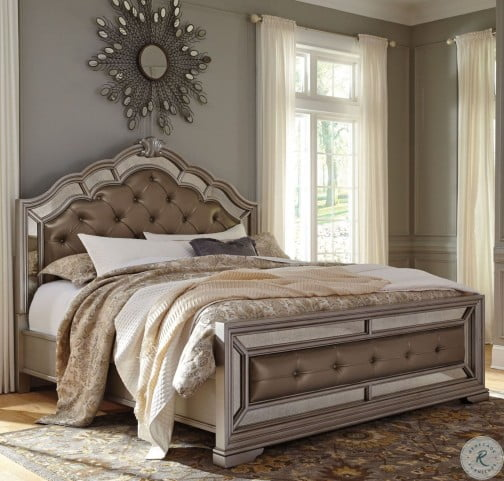 Birlanny Silver Upholstered Panel Bedroom Set B720 57 54: Birlanny Silver Queen Upholstered Panel Bed From Ashley