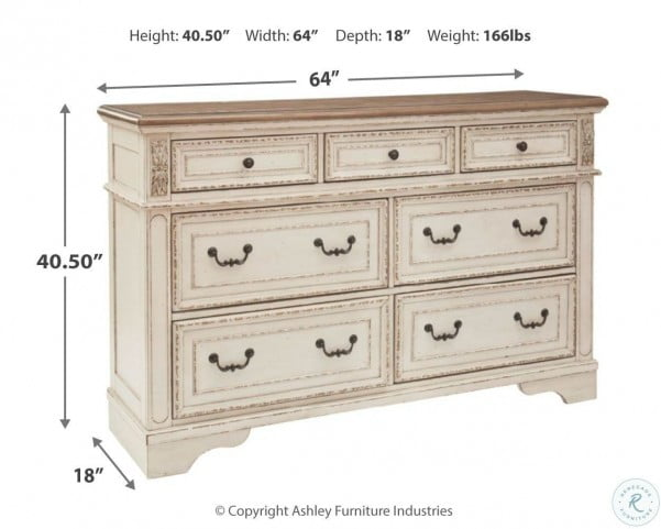 Realyn Chipped Two Tone Dresser From Ashley Coleman Furniture