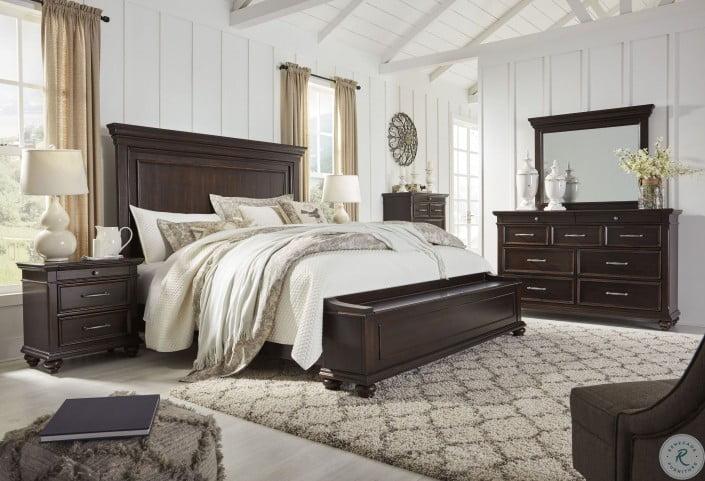 Brynhurst Dark Brown Storage Panel Bedroom Set