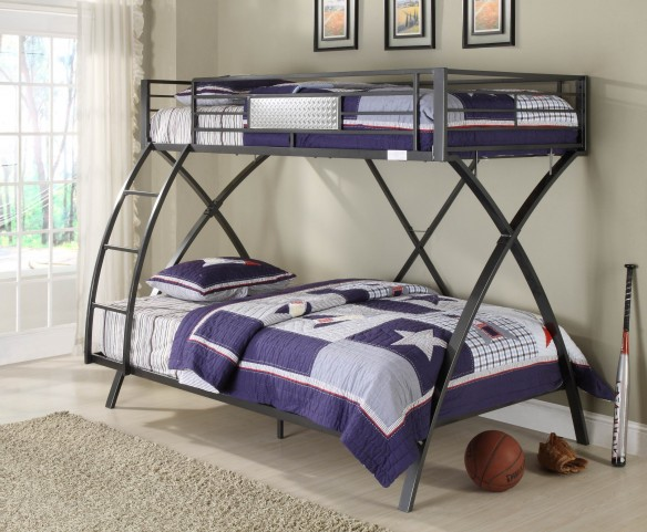 Spaced Out Twin Over Twin Bunk Bed