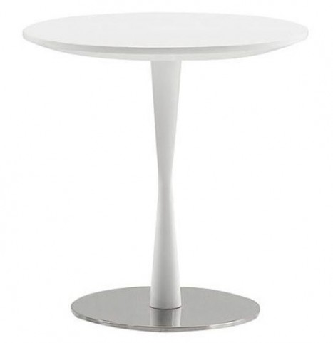 Baldo White Gloss End Table