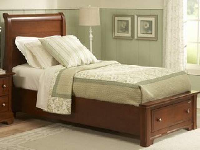 The Cottage Collection Cherry Youth Sleigh Storage Bedroom Set