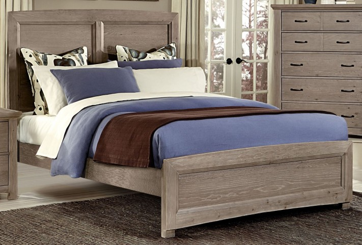 Transitions Driftwood Oak Queen Panel Bed