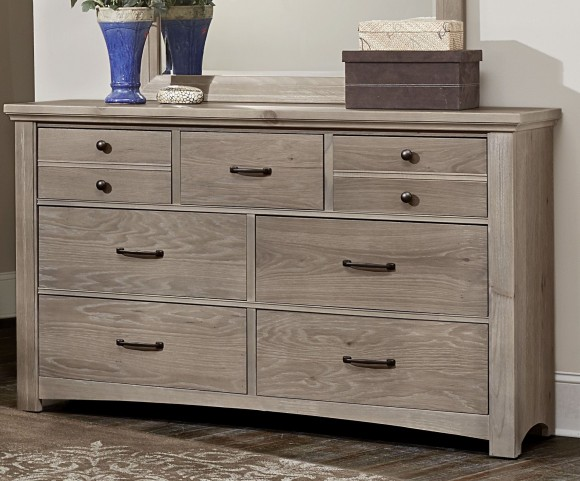 Transitions Driftwood Oak 7 Drawer Dresser