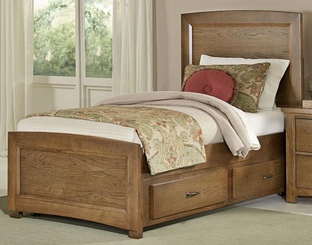 Transitions Dark Oak Full One Side Storage Panel Bed