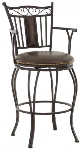 Barbara Jumbo Bonded Leather Swivel Bar Chair
