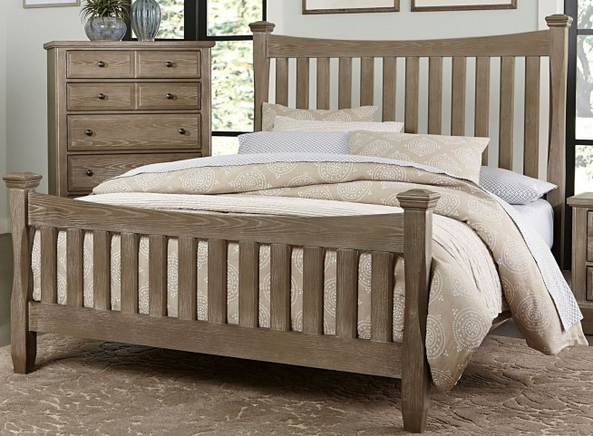Bedford Washed Oak Queen Poster Bed