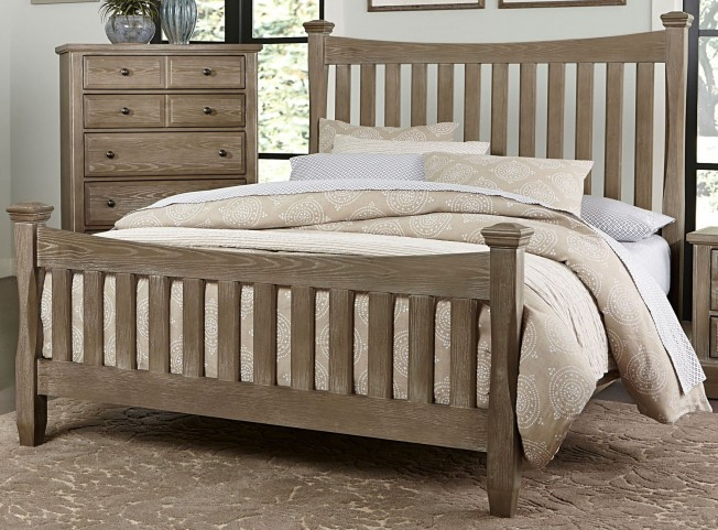 Bedford Washed Oak King Poster Bed