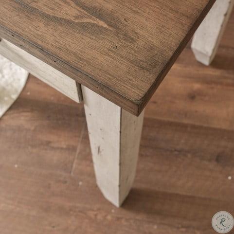 Bear Creek Rustic Ivory And Honey Sofa Table