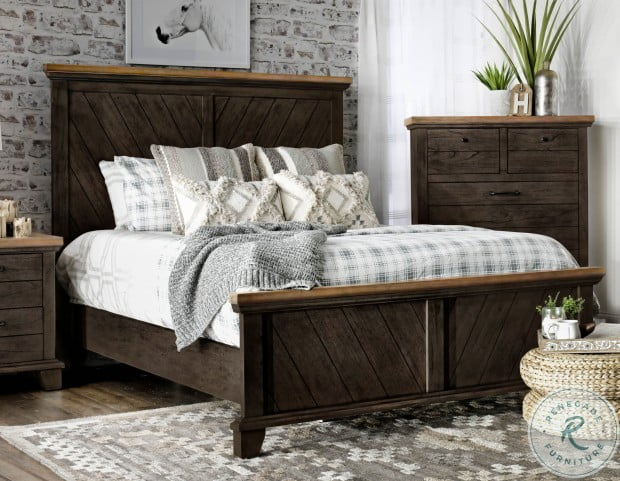 Bear Creek Chocolate And Honey Brown King Panel Bed