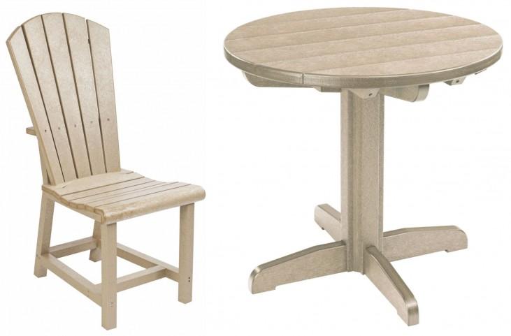 "Generations Beige 32"" Round Pedestal Dining Room Set"