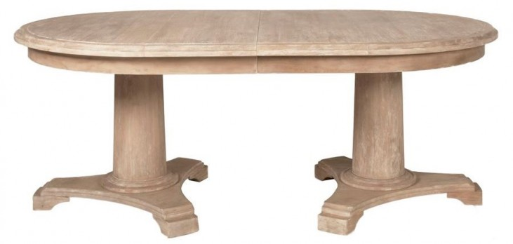 Belmont Stone Wash Oval Extendable Dining Table
